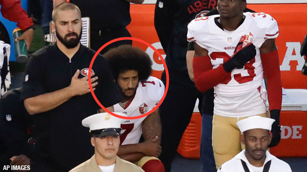 Colin Kaepernick, National Anthem, sitting, protest