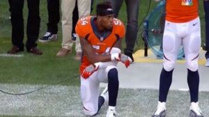 Broncos, Brandon Marshall, kneels, National Anthem, Protest